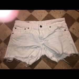 Ralph Lauren white jean short